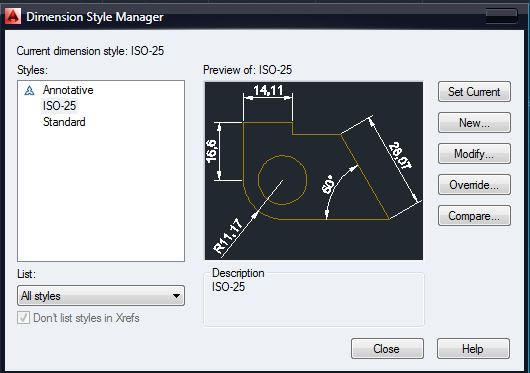 dim style manager
